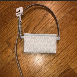 MICHAEL KORS Grey and white Fanny pack